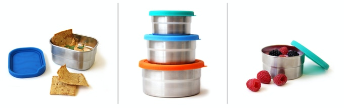 From left to right: Splash Pod, Seal Cup Trio and Seal Cup Solo