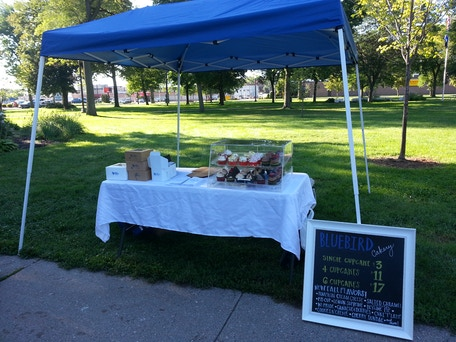 Our 1st Farmer's Market booth in Faribault