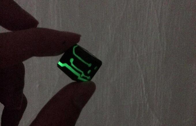 Green Glow Black Finish