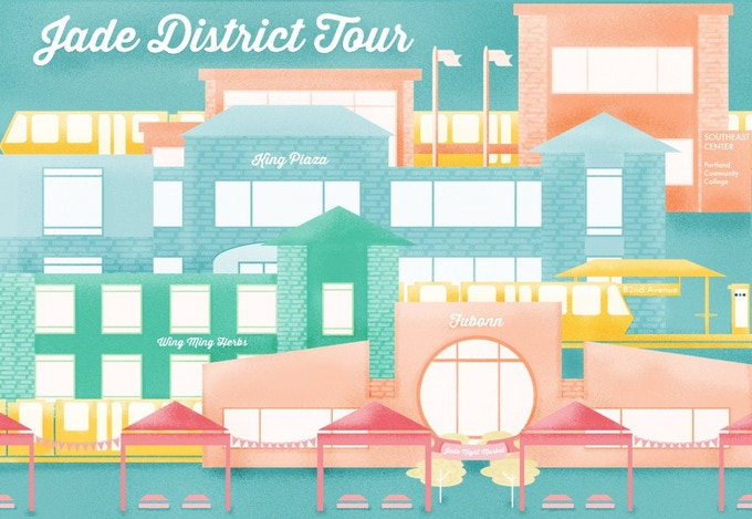 2 tickets to Jade District tour (8/15 or 8/22): travel by MAX to SE 82nd to meet with business owners, community advocates and sample international foods! $30