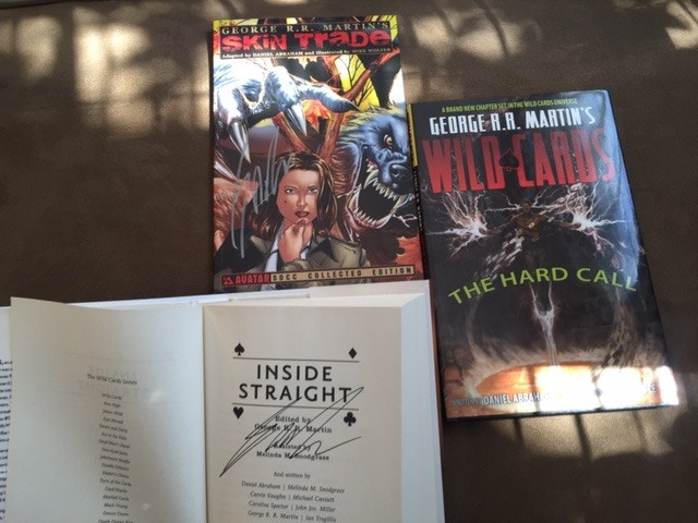 Various signed books from George R.R. Martin and Dynamite Entertainment