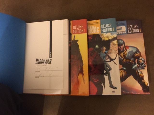 Limited edition hardcover books from Valiant Entertainment signed by both writer and illustrator