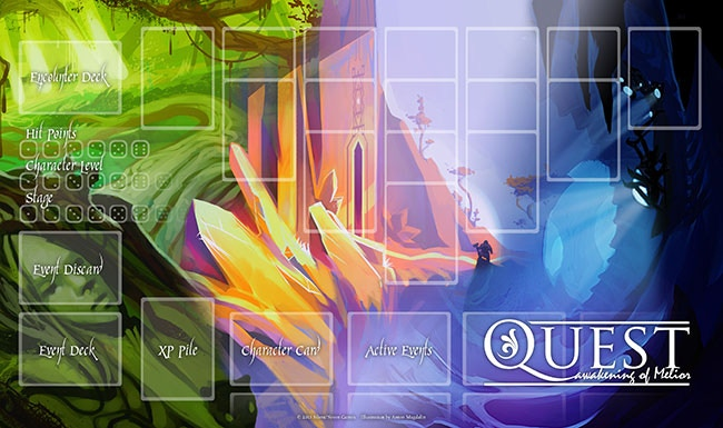 Quest: Awakening of Melior Play Mat, Determined by Backer Vote