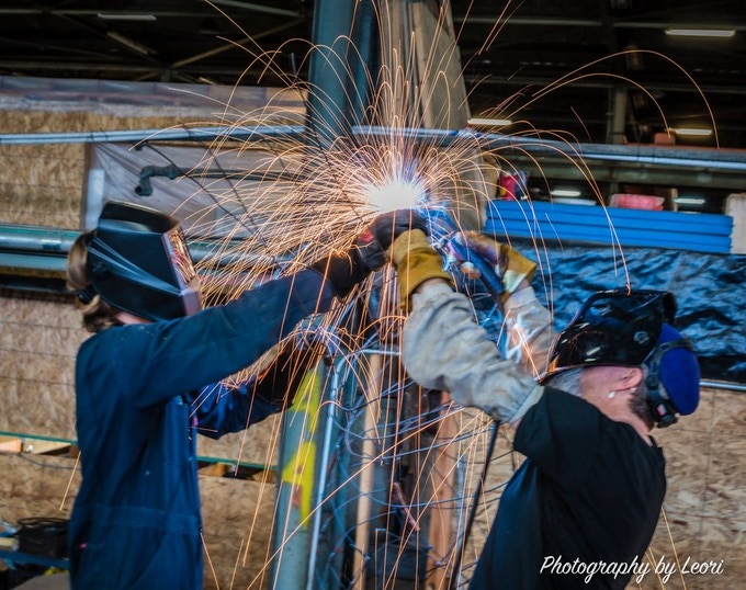 Welder artists in action