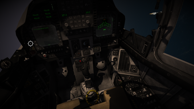3D cockpit with selectable articulated controls