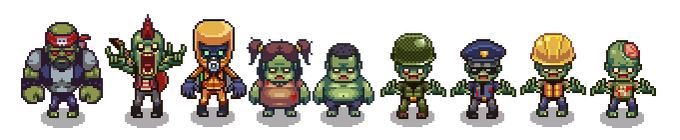 Pixelated Zombies
