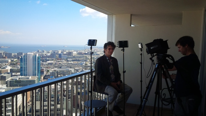 George Sanger on set in San Francisco