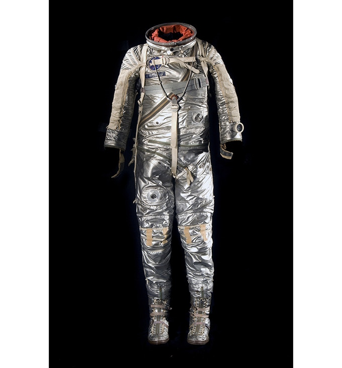 "Alan B. Shepard, one of the original ""Mercury 7,"" wore this suit on the first flight of an American astronaut in 1961."