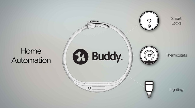 Buddy integrates with smart home automation systems.