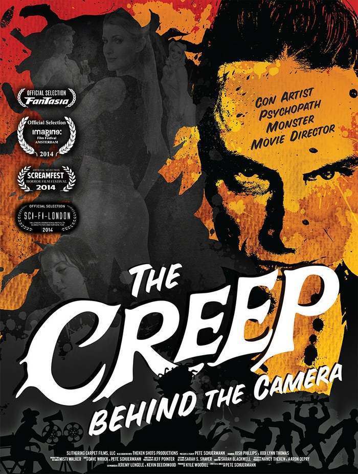 www.creepfilm.com; a comedic, satirical look at the movie making process, chronicling the outlandish story of a psychopathic director.