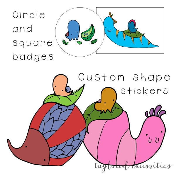 Sticker and badge design examples
