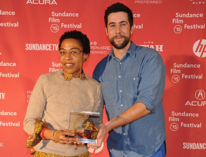 (T)ERROR directors Lyric R. Cabral and David Felix Sutcliffe at the 2015 Sundance Film Festival
