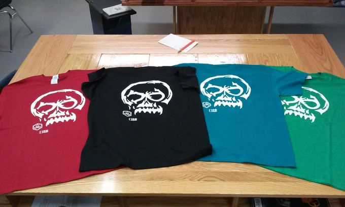 T-Shirts in Red, Blue, Green, or Black. All sizes S to 4XL