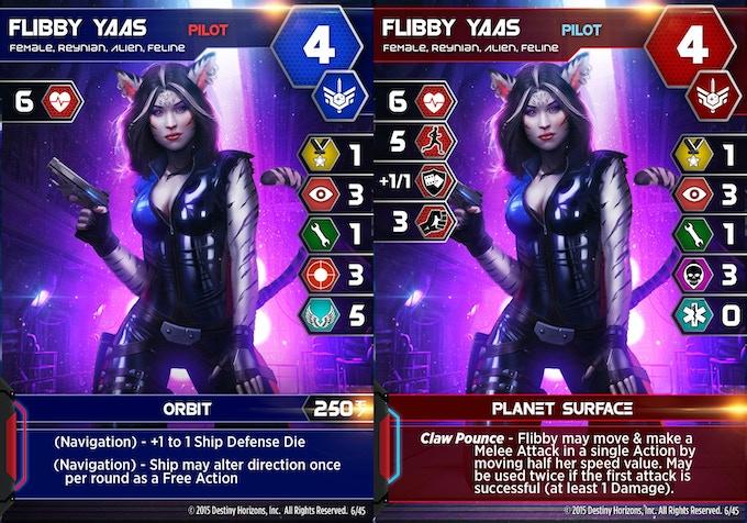 Flibby Yaas Character Card - Front & Back