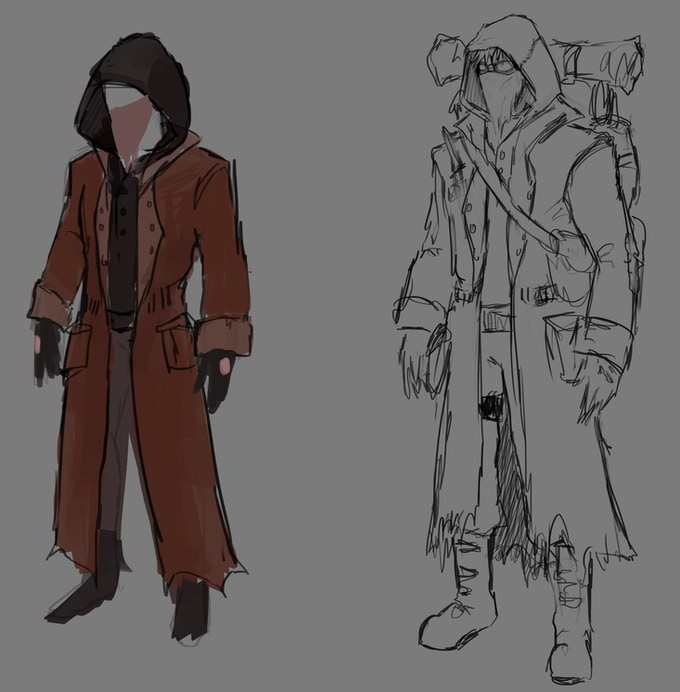 Moize Opel - Character Concept Sketching