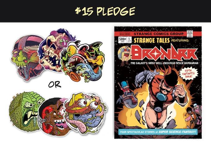 "Print copy of Strange Kids Club Magazine #5 and three 4"" stickers"