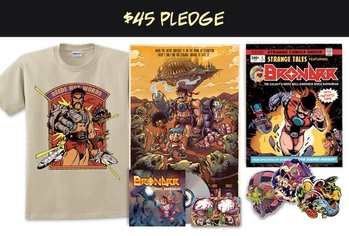 "Strange Kids Club Magazine #5, three 4"" stickers, 11x17 print and t-shirt"