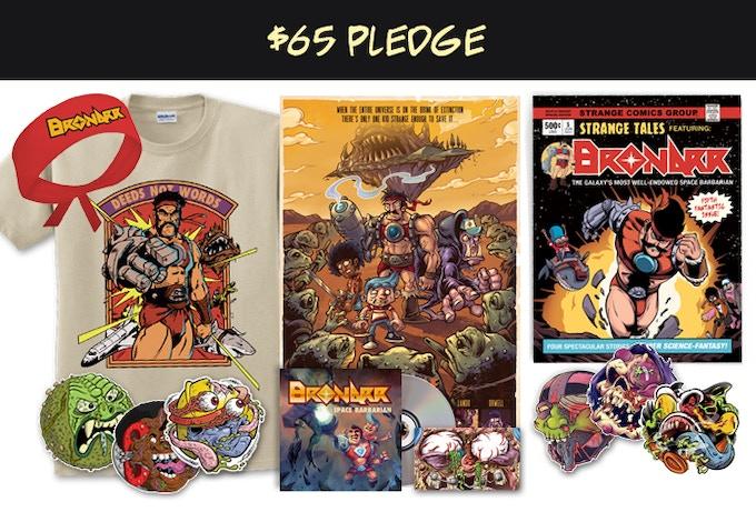 "Strange Kids Club Magazine #5, six 4"" stickers, 11x17 print, t-shirt and bandana"
