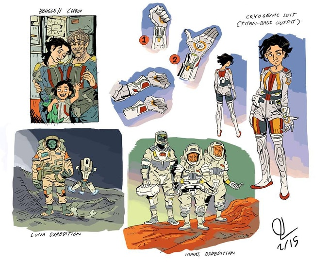 Scout's Cyro Suit, and other explorers.