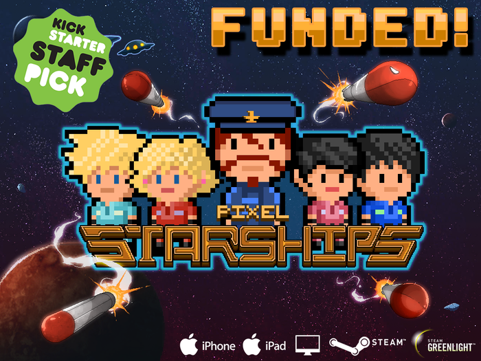 The world's first total starship management game in an 8bit massive online universe. Take your crew on an epic journey to explore space!