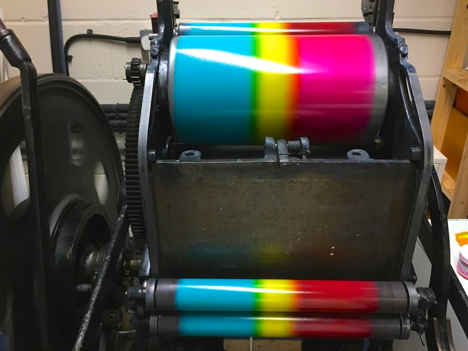 1950s Vicobold Printing Press Kickstarter campaign