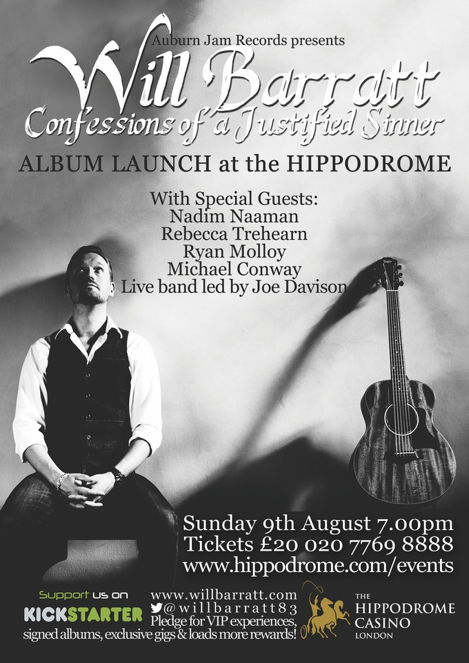 Album Launch at The Hippodrome, August 9th 7pm
