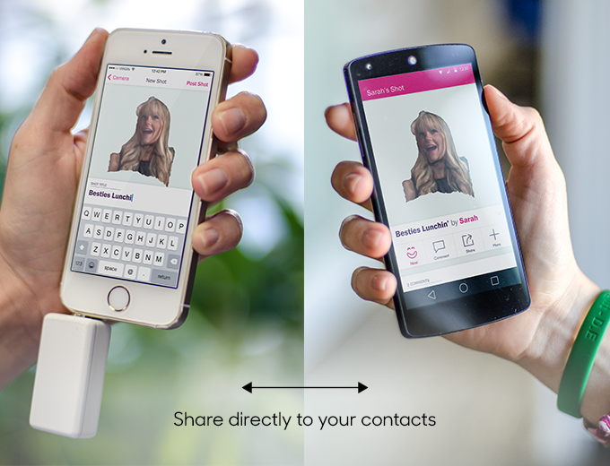 Share directly to your contact list, or upload to your favorite social site.