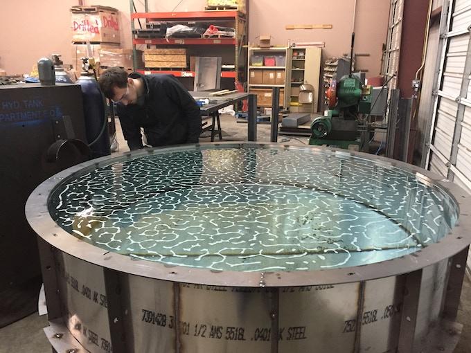 Water testing the tank