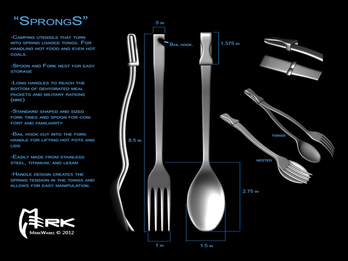 Sprongs The Perfect Camp Utensil For Cooking And Eating