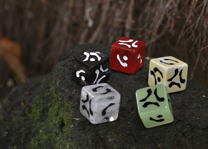 The dice have an appearance that would let them exist as in any fantasy setting, but they also come with an intriguing backstory as to why and how they would exist in such a world.