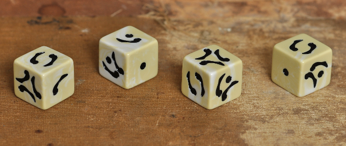 These dice have the appearance that they are carved out of bone, with a smooth polished finish for perfect rolling.