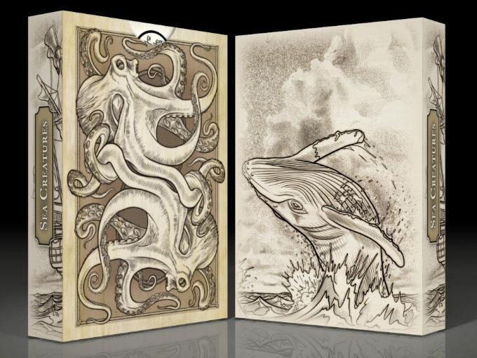 Sea Creatures Tuck box