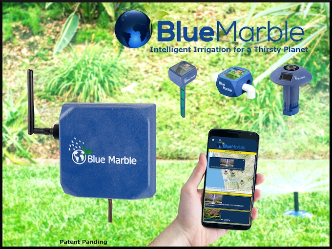 The Heart of the system is the Blue Marble Controller. It is a powerful, Internet-connected, computer that, alone, automates your garden with weather based irrigation. The free app keeps you in-the-know from anywhere you have Internet access!