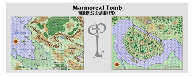 Maps included in the Wilderness Expansion pack. Cartography Benoist Poiré.
