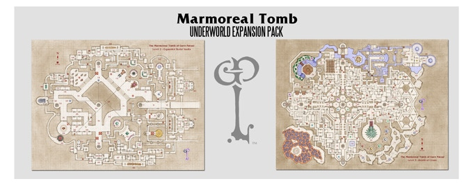 Maps included in the Underworld Expansion pack. Cartography Benoist Poiré.