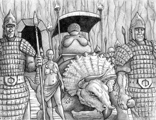 Queen of the Stone Giants. Art Mark Allen, 2014.