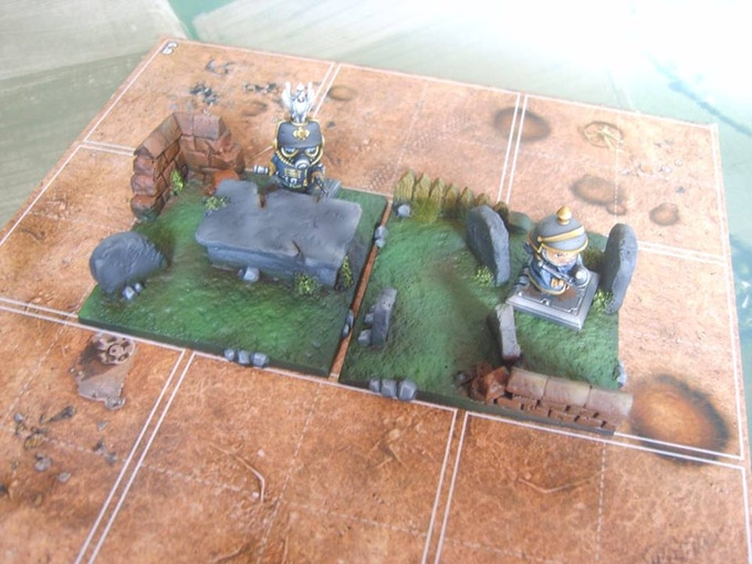 Graveyard (supplied unpainted, Figures not included)