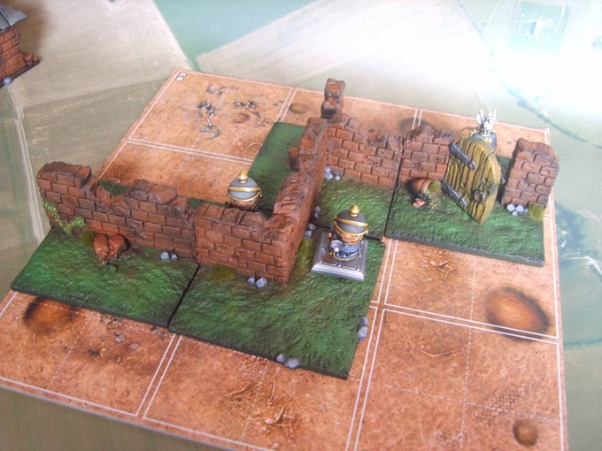 Wall sections (Figures not included, supplied unpainted)