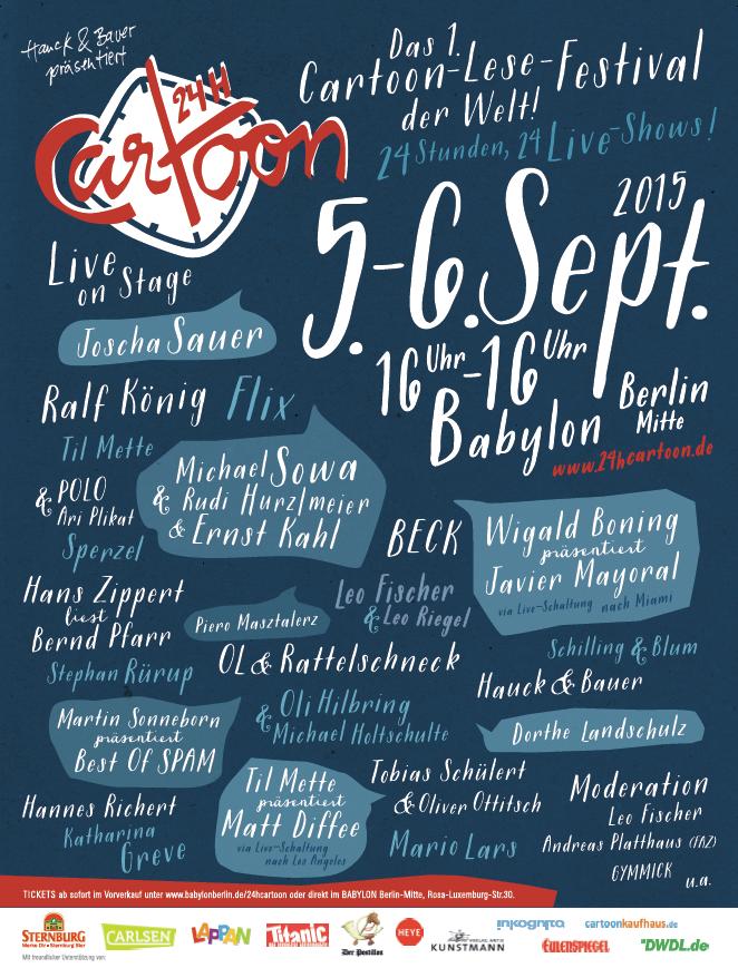 Tickets ab sofort im Vorverkauf unter www.babylonberlin.de/24hcartoon