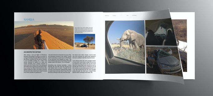 *Interior page mock up - images and design not finalized*