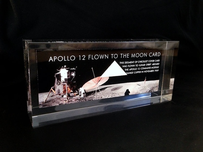 Apollo 12 Flown Card Acrylic