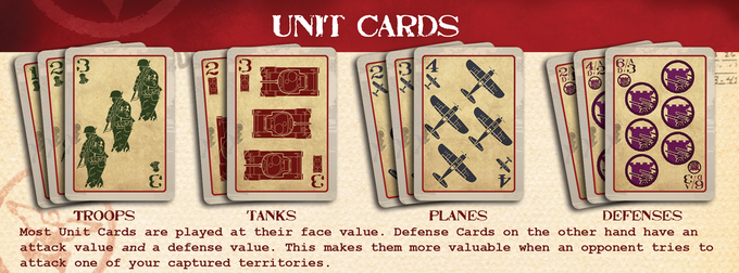Unit Cards are used to make your bids by adding their face values.