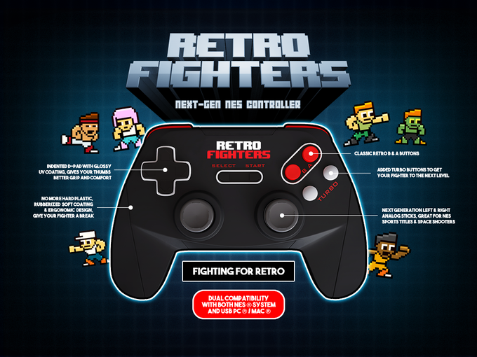 Retro Fighters - Novo Comando Retro para NES/PC [kickstarter]