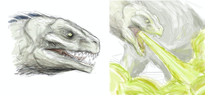 Head and Chemical Breath Sketches