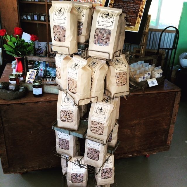 Dried pasta available at Camas Country Mill