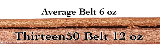 Thirteen50 belt thickness compared to average belt