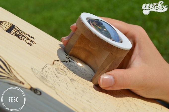 Custom engraved waterboard skateboard