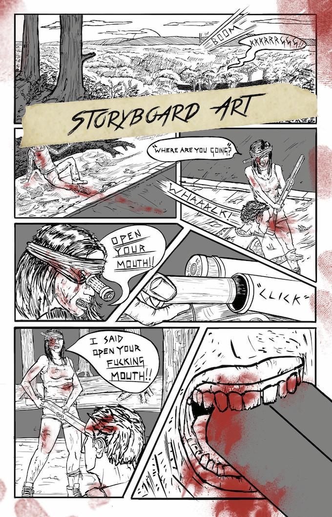 Storyboard Art - Comic page 1