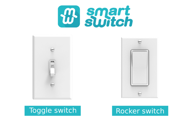 Smitch is compatible with Toggle & Rocker switches