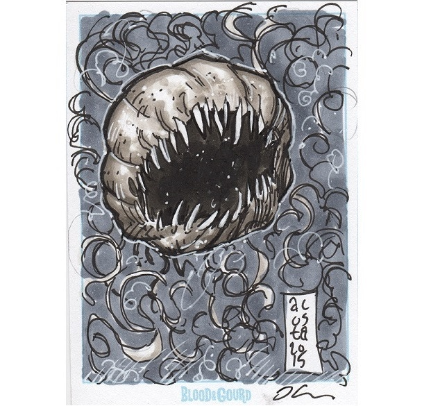 Sample sketch card by Dave Acosta